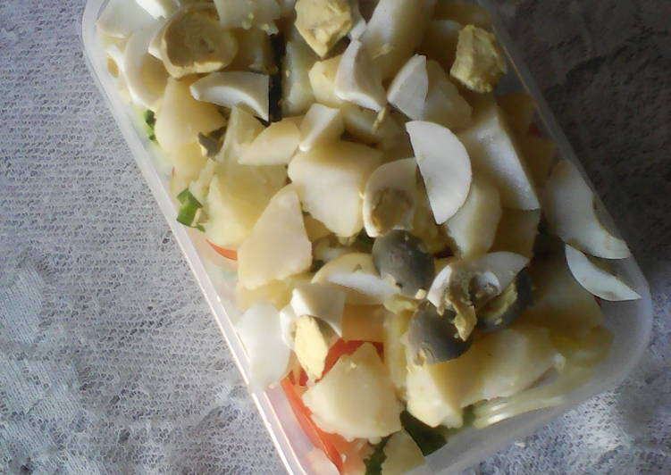 Simple Way to Make Any-night-of-the-week Cucumber with potatoes salad