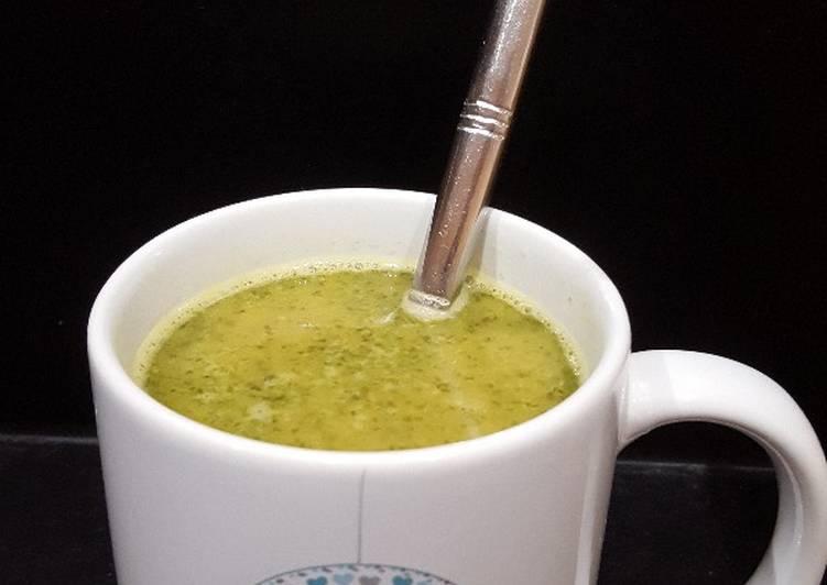 Soupe pois chiche basilic