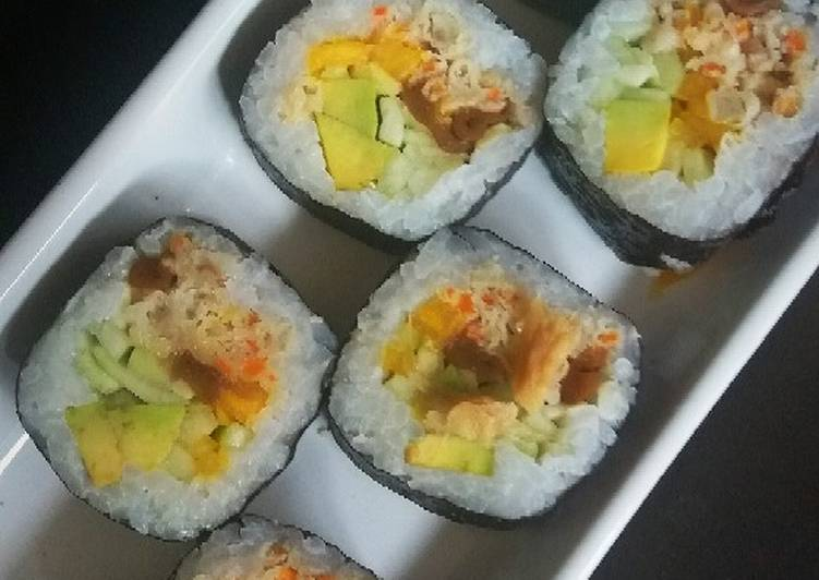Steps to Prepare Any-night-of-the-week Veg sushi rolls