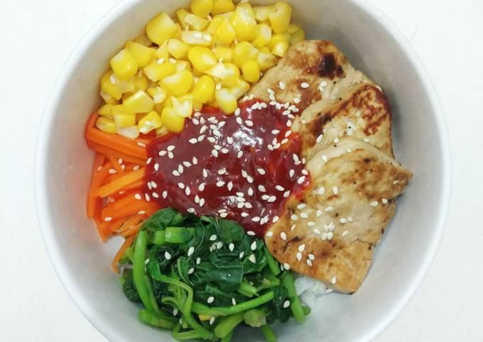 Homemade Bibimbap (Diet Version) - 320 Kalori