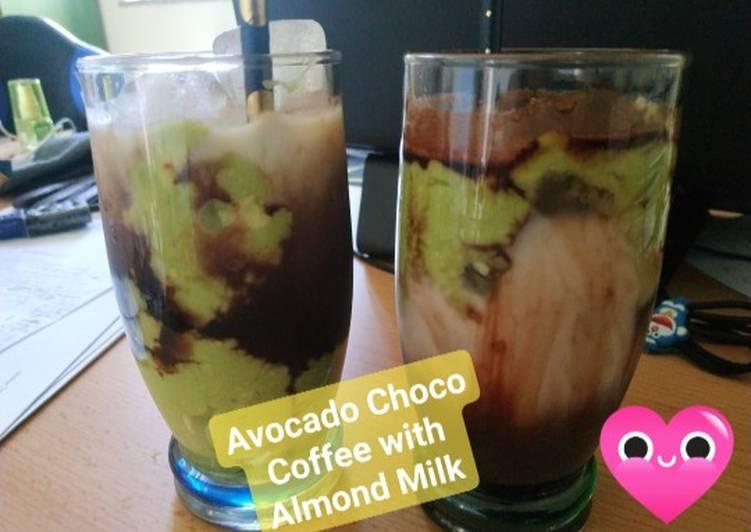 Avocado Choco Coffee with Almond Milk