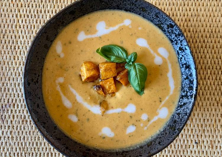 Step-by-Step Guide to Make Super Quick Homemade Butternut squash Thai red curry soup