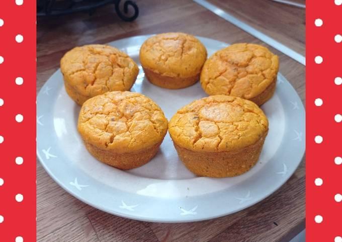 Muffins au butternut et pesto rouge