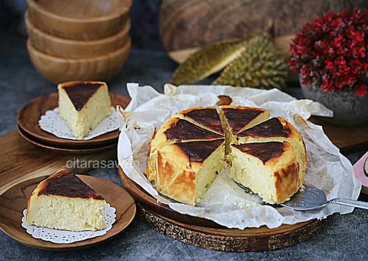 Kek Keju Durian Hangus