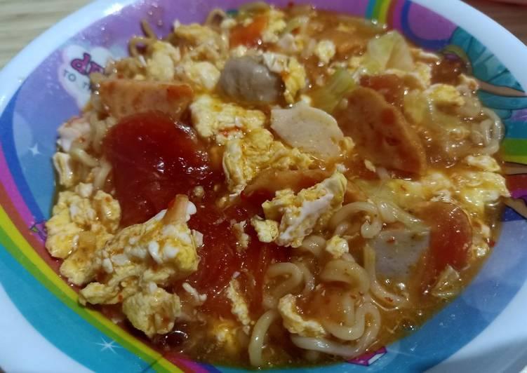 Resep Seblak mie pedas Yang Gampang Bikin Nagih