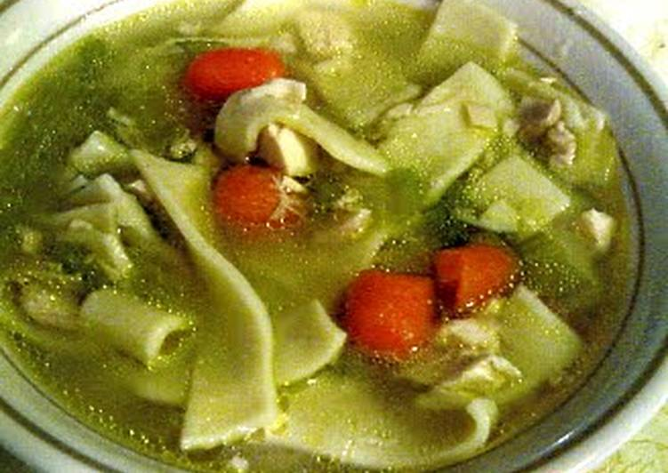 Simple Way to Make Award-winning AMISH CHICKEN NOODLE SOUP