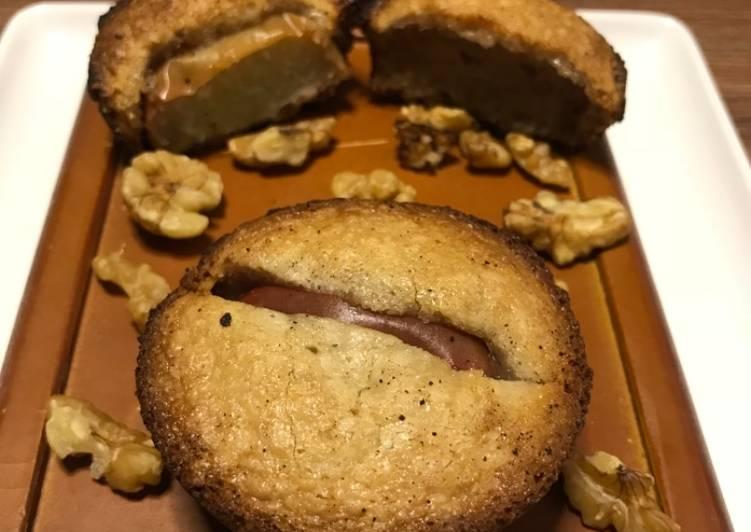 Apple Walnut Financier (Sweet desserts)