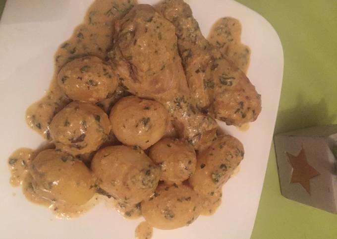 Poulets et Pommes de terre à la moutarde