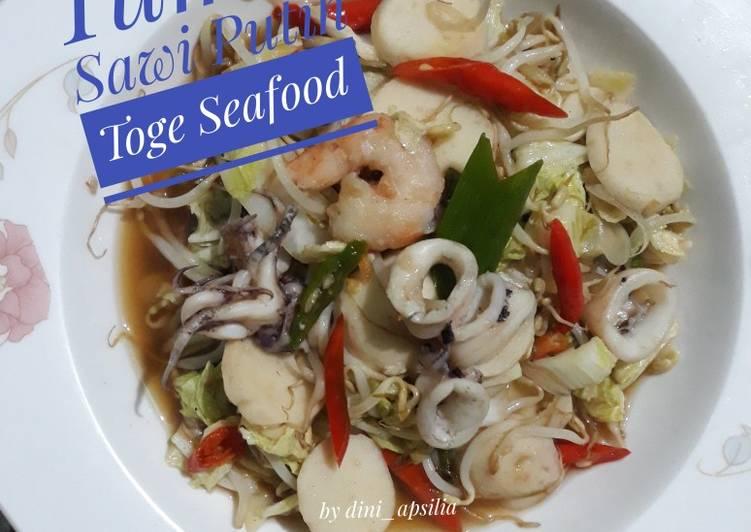 Tumis Sawi Putih Toge Seafood