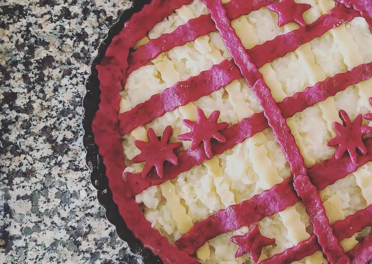 Ricetta Crostata con frolla alla barbabietola e crema al limone