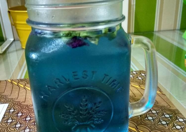 Infused water bunga telang