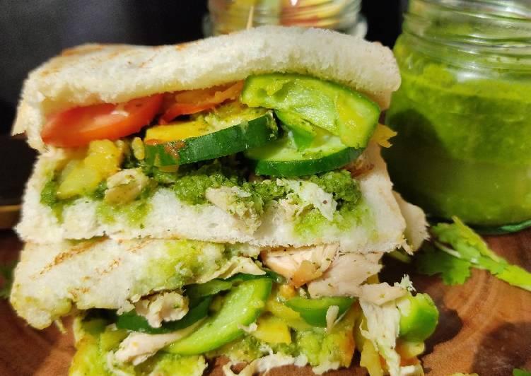 How to Make Quick CHICKEN CHUTNEY SANDWICH with mango salsa