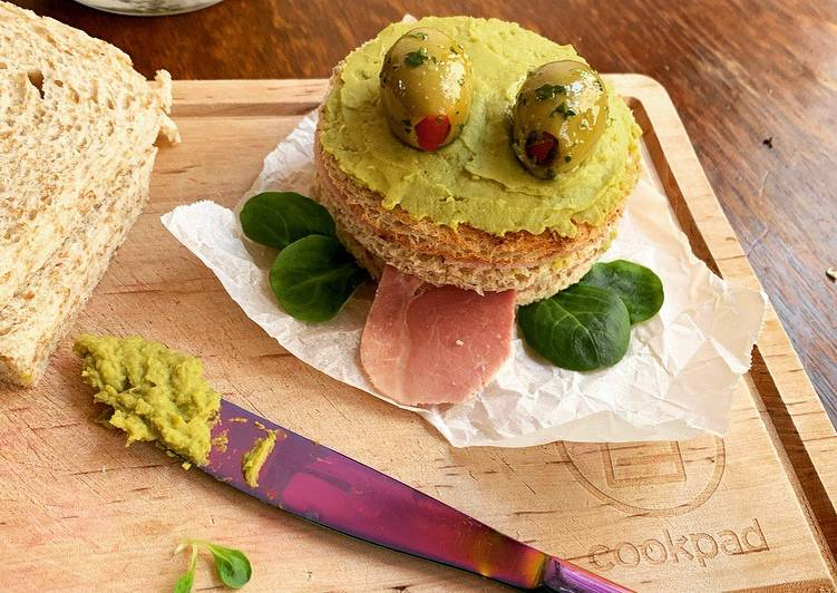 How to Make Appetizing ☆Croque-Grenouille à la Crème de Petits Pois☆