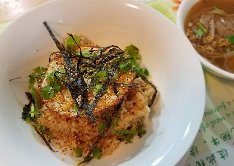 Recipe: Tasty Butter egg brown rice 黄油拌饭#mommasrecipes