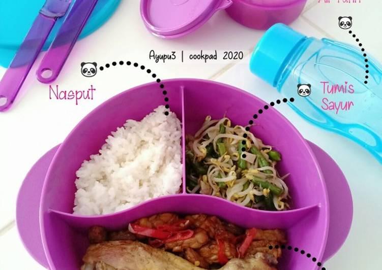 Langkah Mudah untuk Membuat Nasi Bekal Bento (Ayam&Sayur)  Anti Gagal