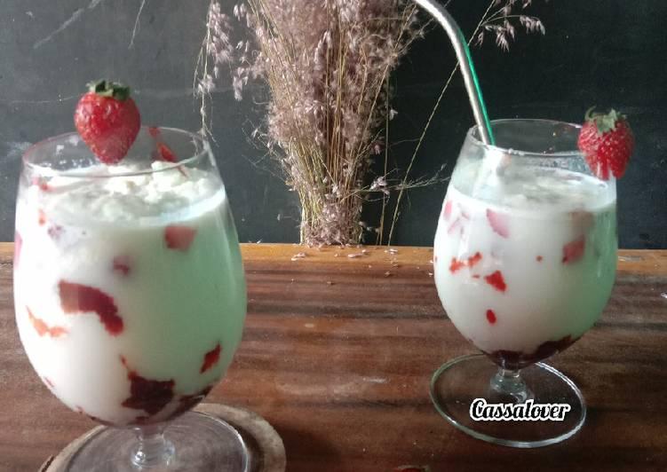 Resep Korean Strowberry Milk