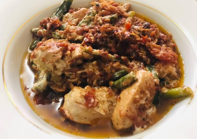 Basil Tomato Creamy Chicken