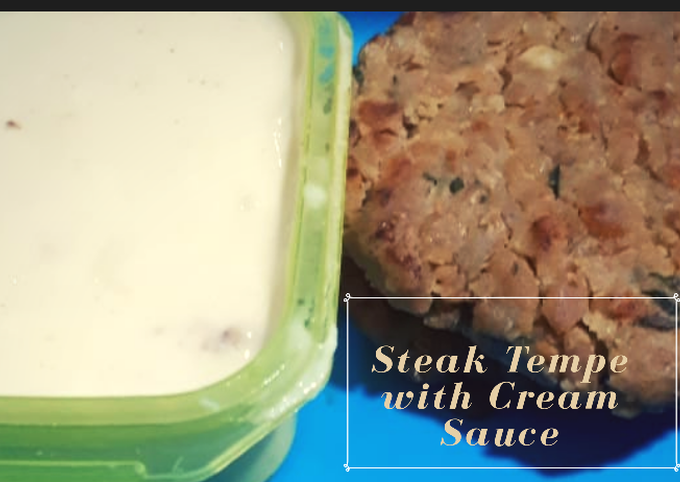 Steak Tempe with Creamy Sauce