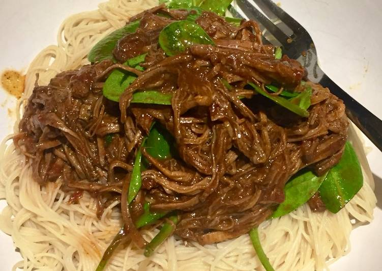 Steps to Make Homemade Slow Cooked Asian Spiced Beef Brisket