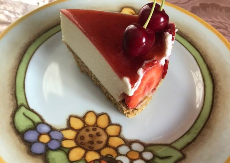 Cheesecake fragolosa alle fragole 🍓