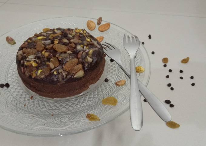 Chocolate Nuts Steamed Cake !!