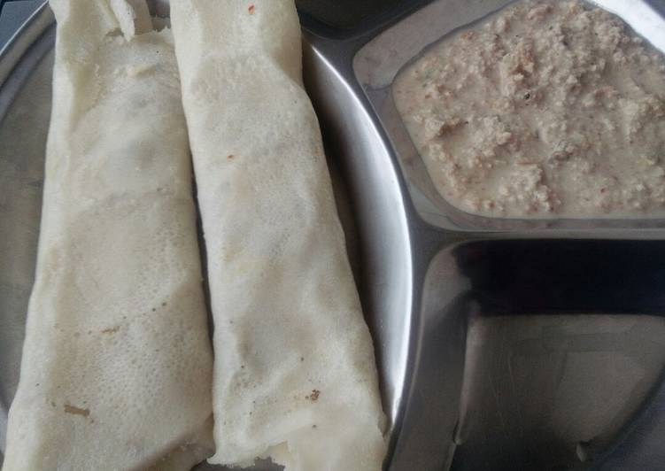 Easiest Way to Prepare Delicious Masala dosa with peanutchutney