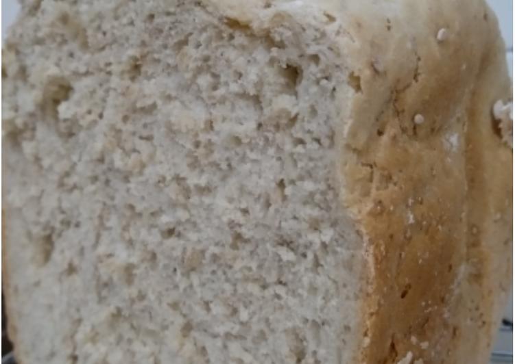 Pan rápido de avena y sésamo en panificadora