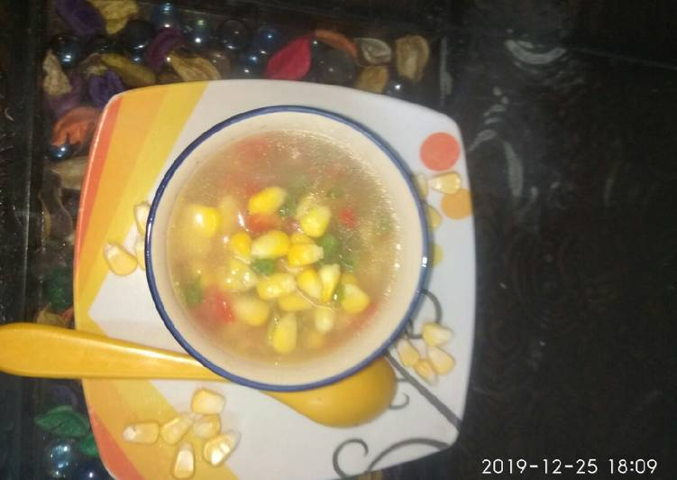 Sweet corn soup, Help Your To Be Healthy And Strong with Food