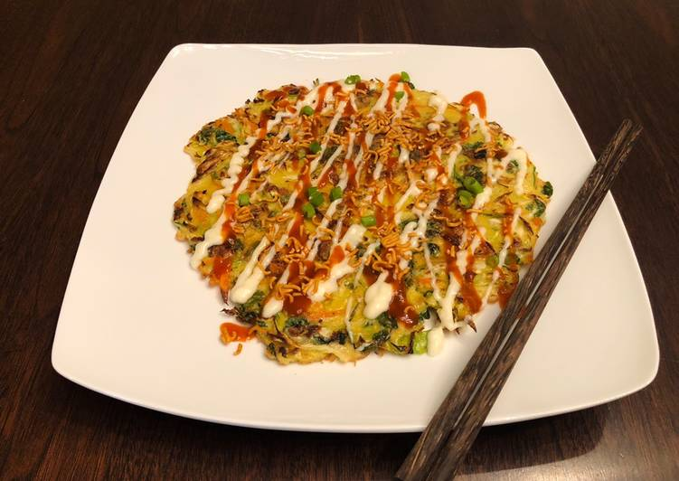 Recipe of Speedy Nia's Okonomiyaki (Japanese Savory Pancake)