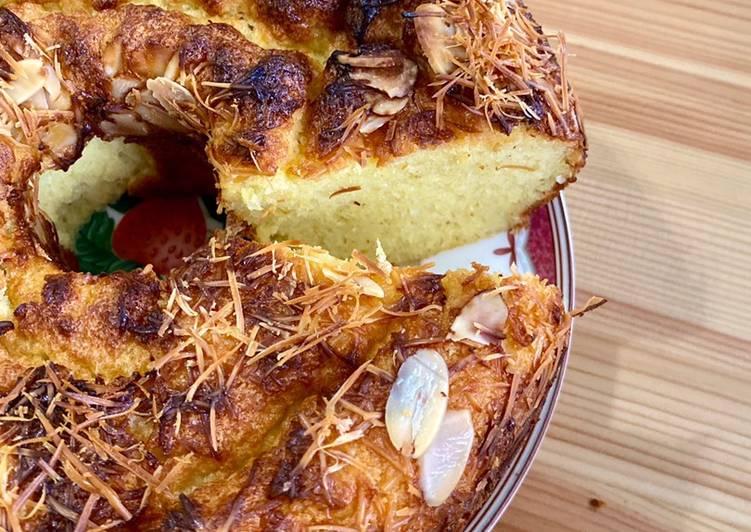 Cassava chiffon cake / chiffon singkong