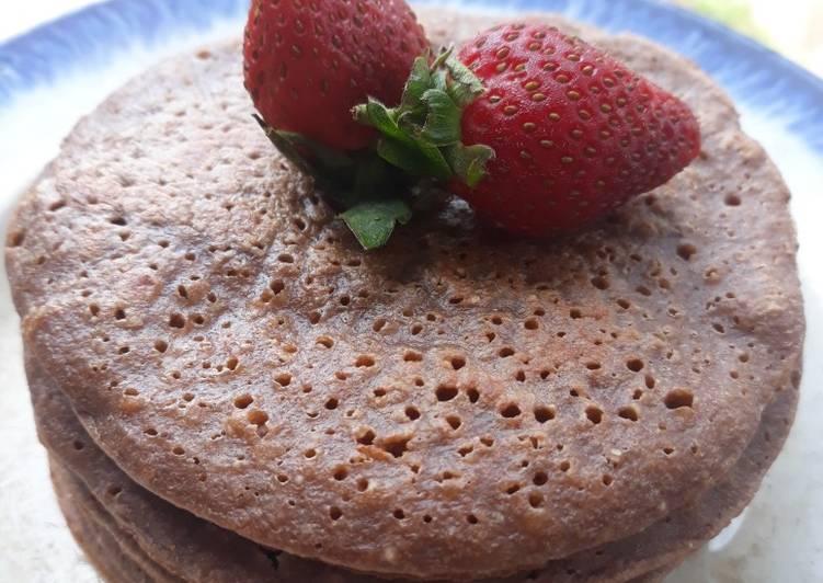 Choco Banana Oat Pancake