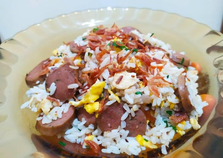 Nasi goreng telor sosis tanpa kecap