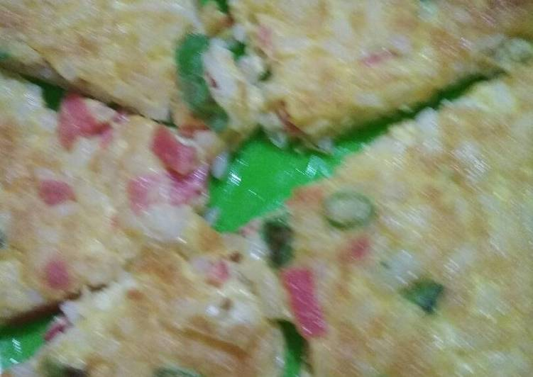 Omlet Nasi (very very simple)