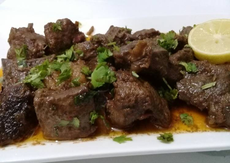Recipe: Perfect Beef liver, Kidney, fat, meat Masalay wale