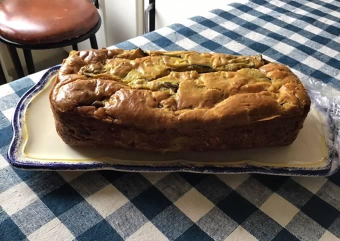 Cake aux aubergines mascarpone et jambon blanc