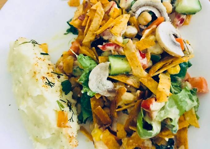 Easiest Way to Make Delicious Egyptian Salad with mashed potato