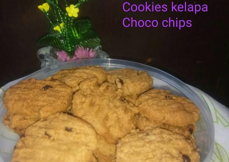 Cookies kelapa choco chips 🍹☕Alla Mm Anna 😘