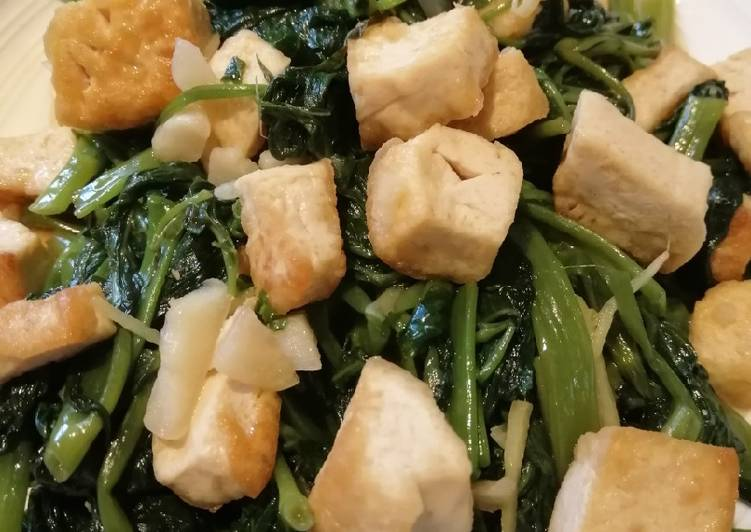 Water Spinach con Tofu