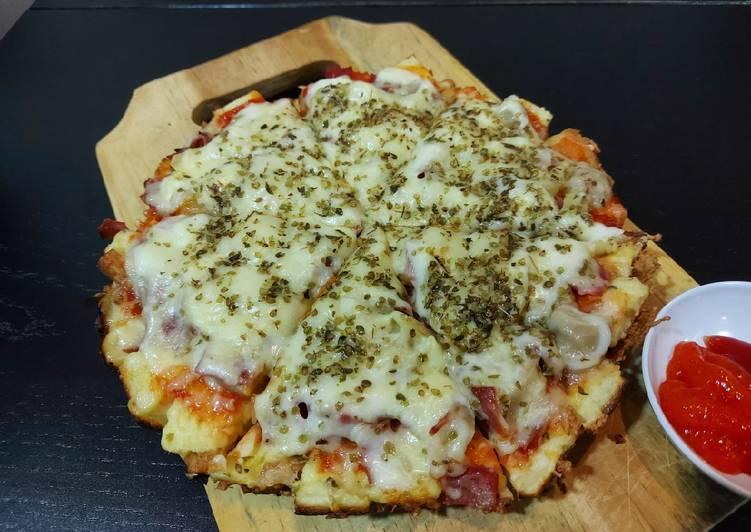 Pizza roti tawar teflon🍕