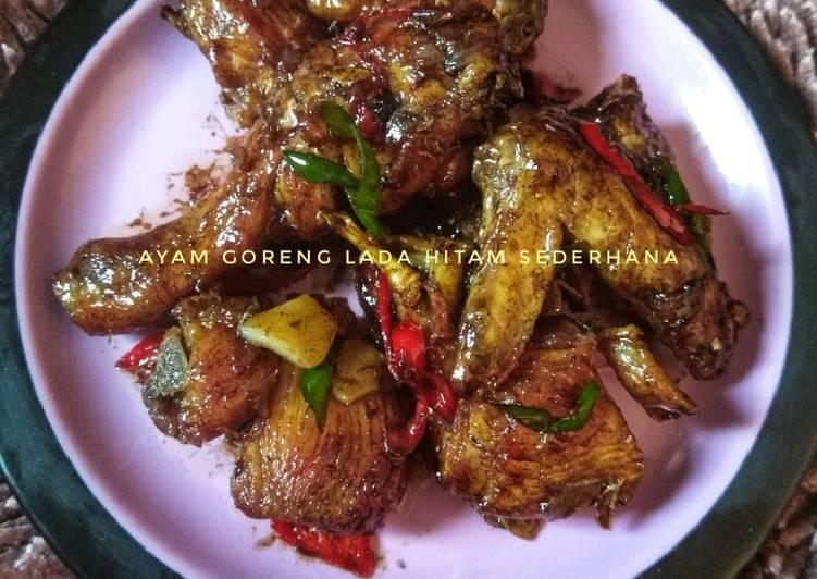 Ayam Goreng Lada Hitam Sederhana #RabuBaru – Resep membuatnya