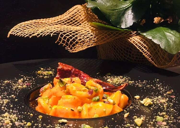 Ricetta Orecchiette alla crema di peperoni rossi e pistacchio di Bronte