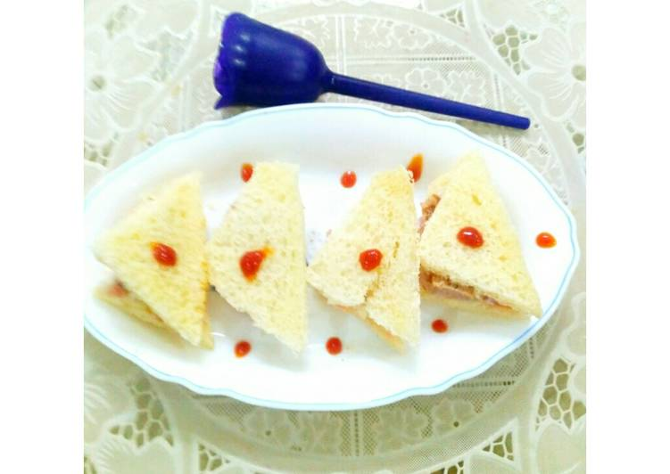 Recipe of Quick Seekh Sandwiches