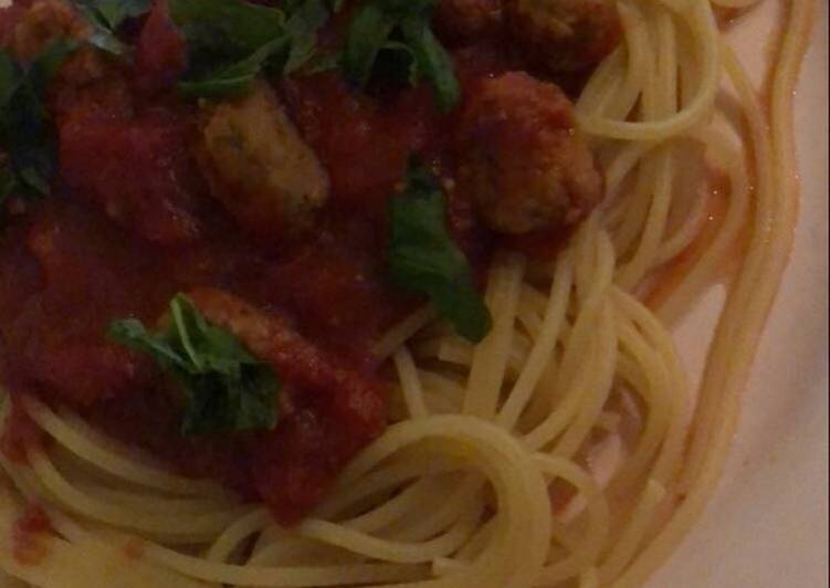 Lily's really easy Meatball Pasta