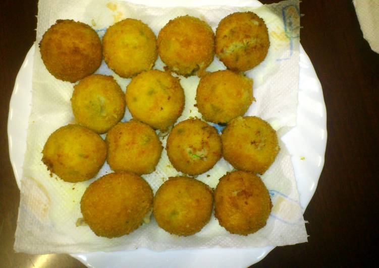 Easiest Way to Make Ultimate Chicken 'n' cheese balls