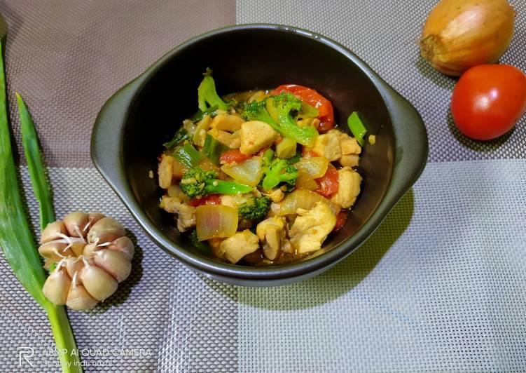 Resep Kungpao ayam dan brokoli 🐔🥦, Bikin Ngiler