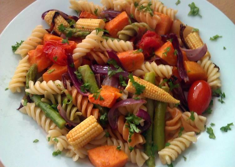 Vickys Roasted Vegetable Pasta, GF DF EF SF NF