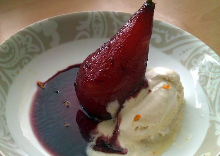 Easiest Way to Make Perfect Vickys Ruby Poached Pears in Syrup, GF DF EF SF NF