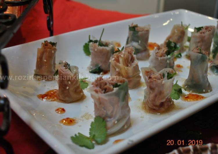 Recipe of Ultimate Tuna Rice paper wraps
