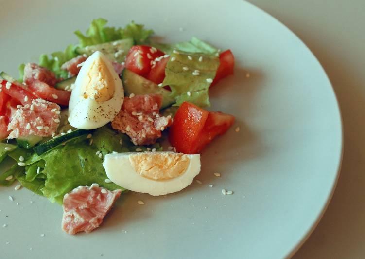 Диетический салат с тунцом, низкокалорийные рецепты с фото | 532x751