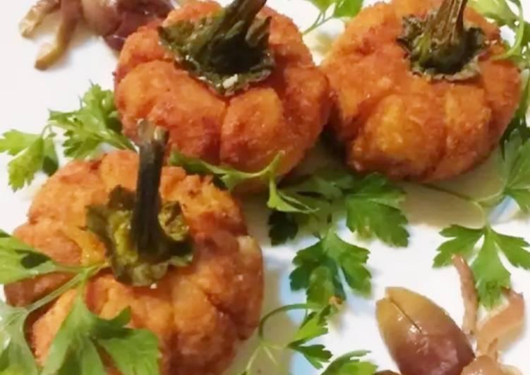 Croquetas de patata rellenas de semillas de calabaza